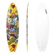 Surfboard TORQ Epoxy 6.3 Fish Space Crime
