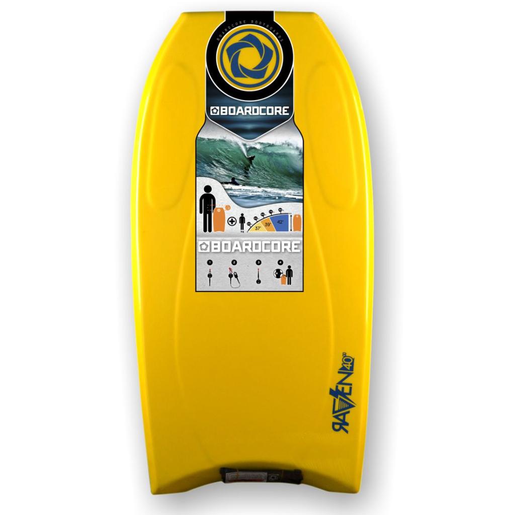Boardcore Bodyboard mit Crescent Tail