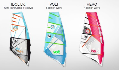 Wave und Freestyle Range 2017 von North Sails